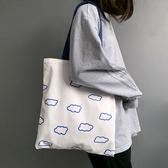 瑜伽運動包包小云朵日系ins大容量布袋包慵懶風單肩帆布包女書包 - 風尚3C