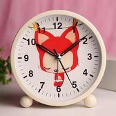 靜音鬧鐘學生兒童可愛創意卡通夜光床頭簡約臥室電子小鬧鐘鬧錶    琉璃美衣