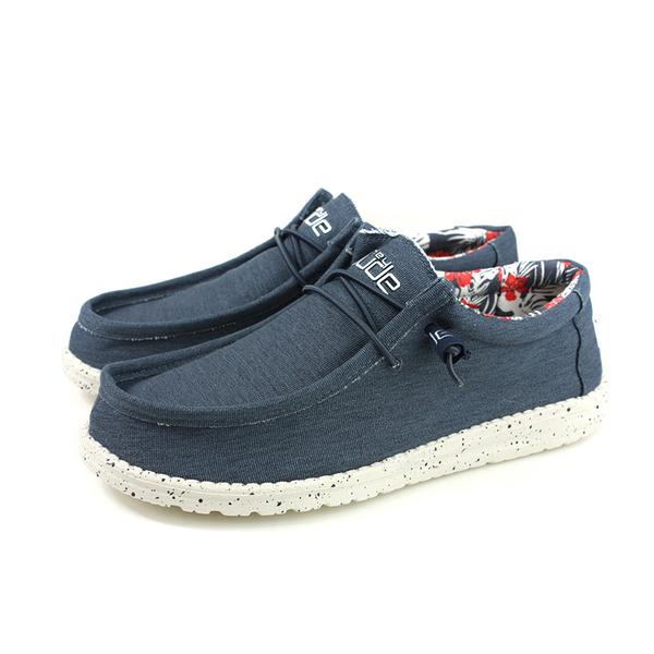 Hey Dude 休閒鞋 帆船鞋 帆布 深藍色 男鞋 HD2031-805 no014