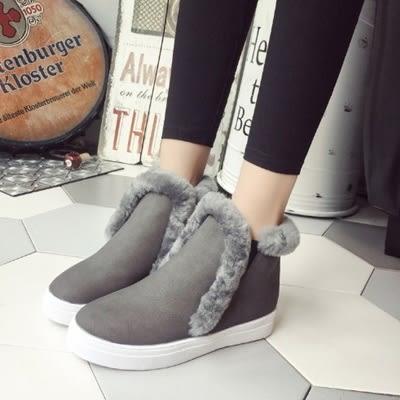 低筒雪靴-時尚簡約百搭保暖女厚底靴子3色73kg84[巴黎精品]