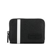 【BALLY】Bivy 塗層帆布黑白條紋卡夾/零錢包(黑色) 6224342 30