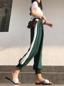 雪紡燈籠褲女夏防蚊薄款大人顯瘦運動寬鬆緊高腰垂感cec闊腿束腳