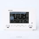 鬧鐘 SEIKO白色電子顯示座鐘【NV63】原廠公司貨