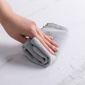 可掛式 超細纖維 抹布 清潔 輕洗 廚房 衛生 加厚 隔熱 防燙 不沾油 雙材質抹布【J033-2】慢思行