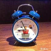 鬧鐘學生靜音時尚創意兒童臥室床頭夜燈數字時鐘金屬打玲個性簡約 FX1510 【科炫3c】