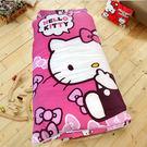 HO KANG 三麗鷗授權 冬夏鋪棉兩用兒童睡袋加大款 -KITTY經典甜美(粉)