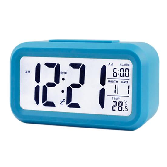 床頭燈 光感鬧鐘 貪睡 數字鐘 夜光 大螢幕 升級版 光控 LED鬧鐘 溫度顯示電子鐘 MY COLOR【P014】