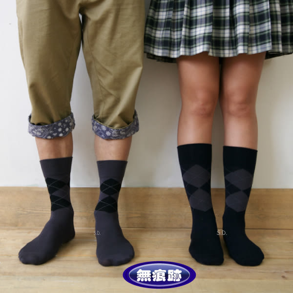 Sun Flower 三花無痕肌蘇格蘭休閒襪