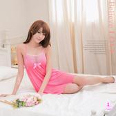 睡衣 性感睡衣 粉紅水玉點點雪紡二件式性感睡衣 星光密碼A066