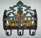 歐美田園 鑄鐵信插雜誌插書報插雜物收納鐵藝掛鉤庭院裝飾品小鳥