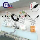 5勾壁架 / 電鍍光澤 /橡膠套/ 卧室廚房衛浴 多機能掛勾 / 掛鈎 /簡約設計 Amos 【ZAN003】