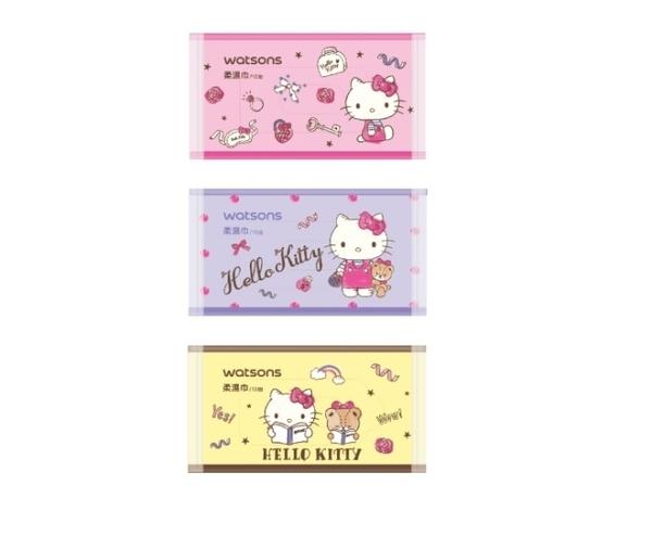 屈臣氏潔膚柔濕巾9入(Hello Kitty)
