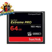 SanDisk CF 記憶卡 Extreme Pro 64GB 160MB/s 群光公司貨 64G