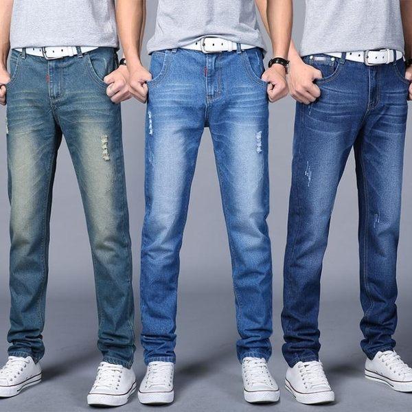 牛仔褲男士寬鬆大碼直筒褲青年春季薄款韓版修身休閒加大長褲子潮 快速出貨