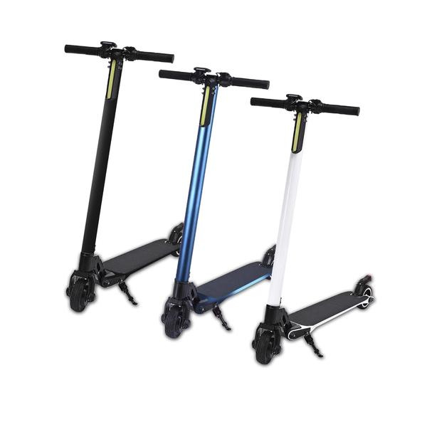 台灣現貨 LED電動滑板車AX5 可折疊滑板車 5.5吋實心胎 (贈專用背袋)
