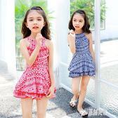 女童泳衣 小童寶寶分體平角褲公主裙式民族風個性可愛兒童泳裝女孩 LJ3199【原創風館】