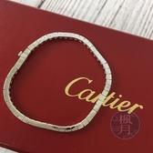 BRAND楓月 CARTIER 卡地亞 LANIERES K18 15G 銀飾 簡約 方形 手環 手鍊 飾品 配件