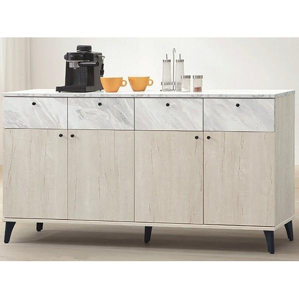 櫥櫃 餐櫃 PK-497-3 白橡色5尺餐櫃(下座)【大眾家居舘】