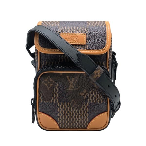 【台中米蘭站】全新品 Louis Vuitton NANO AMAZONE Nigo聯名款帆布斜背包(N40357-咖)