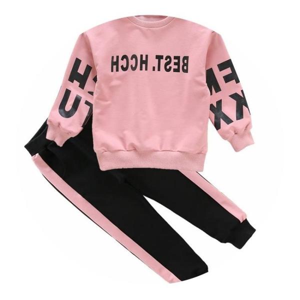 兒童套裝 優質新款女童套裝春秋冬中大童休閒可愛女孩長袖寶寶韓版運動網紅 歐歐