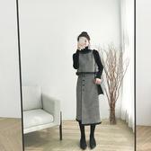 秋冬裝2019年新款女法式復古法國小眾很仙長袖套裝兩件套連衣裙子