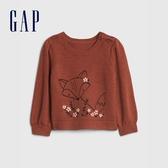 Gap嬰兒 童趣動物織紋針織衫 601997-銅色