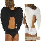 羽毛翅膀(中號-黑白雙色) 天使翅膀 天使愛心 萬聖節/聖誕節/角色扮演 配件 道具【塔克】