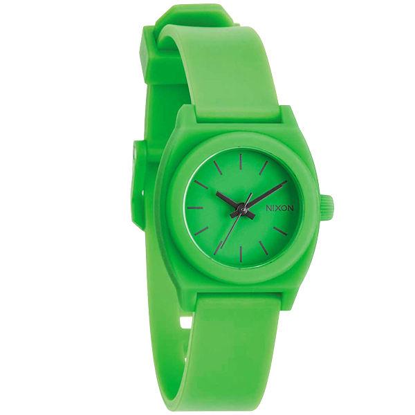 NIXON TIME TELLER P 躍動普普個性腕錶-綠/小