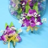 石斛蘭緞帶花 石斛蘭胸花 三朵石斛蘭-紫色/一桶25個入{定80}台灣製~國305E-5A