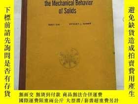 二手書博民逛書店elements罕見of the mechanical beha