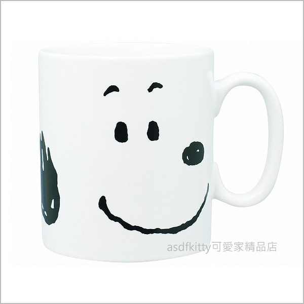 asdfkitty可愛家☆日本金正陶器 SNOOPY史努比大臉大容量陶瓷馬克杯-可微波-500cc-日本製