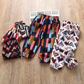 618好康鉅惠防蚊褲童裝夏季寶寶寬鬆薄款燈籠童褲幾何圖