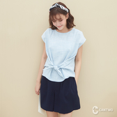 CANTWO棉麻混紡綁帶上衣-共兩色~春夏新品單一特價