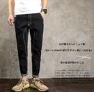 找到自己品牌 時尚潮流 日系 男 復古 車線設計 小腳褲 牛仔褲 直筒褲 九分褲