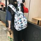 情侶印花日系防水後背包電腦雙肩書包【小酒窩服飾】