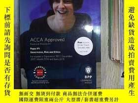 二手書博民逛書店ACCA罕見Approved Practice & Revision Kit Paper P1 Govemance