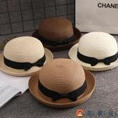 寶寶草帽遮陽帽防曬太陽帽夏男童女童涼帽兒童帽子【淘夢屋】