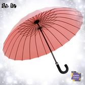 直立傘 24骨遇水開花長柄雨傘雙人超大加固抗風商務男女彎柄傘晴雨兩用傘T 16色