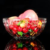 家用鑚石玻璃碗盤六件套裝透明沙拉碗大號盤子水晶碗甜品菜盤果盤   酷男精品館