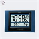CASIO 溫溼度電子掛鐘 時鐘 ID-16S-2 溼度計 溫度計 日曆 ID-16S-2DF 熱賣中!