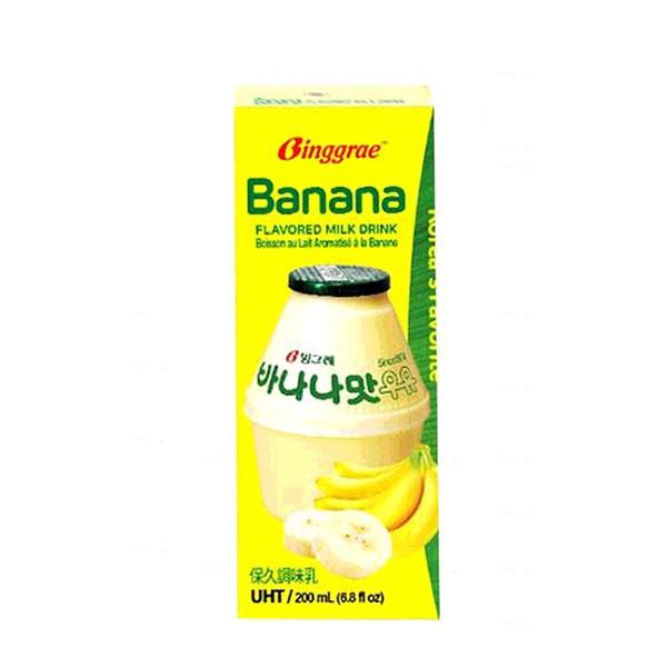 [COSCO代購] 單次運費限購一組 C289755 BINGGRAE BANANA MILK 香蕉牛奶(保久調味乳) 每瓶200毫升X24入
