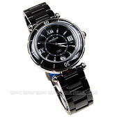 MK10245-CB31 MORRIS K 黑陶瓷錶 黑面 33mm 女錶