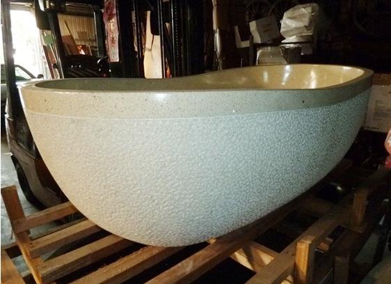 【麗室衛浴】埃及米黃浴缸大理石浴缸  客製獨立缸  享受生活就趁現在