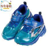 《布布童鞋》Moonstar日本3E寬楦疾風閃電藍色兒童運動機能鞋(15~19公分) [ I8R585B ]