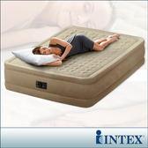 【INTEX】超厚絨豪華雙人充氣床-寬152cm(內建幫浦)(64457)