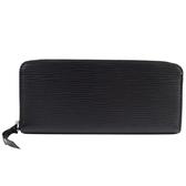 Louis Vuitton LV M60915 Clemence EPI牛皮 水波紋皮革拉鍊長夾.黑 全新 現貨【茱麗葉精品】