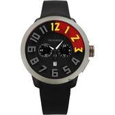Tendence 天勢 限量立體雙色計時手錶- IP黑/51mm TY470401