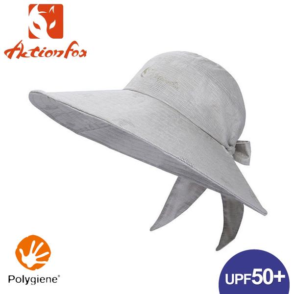 【ActionFox 挪威 抗UV棉麻可調遮陽帽《淺灰》】630-5088/防曬帽/圓盤帽/漁夫帽/登山/園藝/釣魚