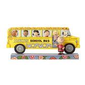《Enesco精品雕塑》SNOOPY花生漫畫好朋友校車塑像-School Bus Buddies(Peanuts by Jim Shore)_EN93511
