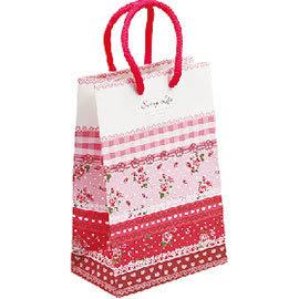 《荷包袋》手提紙袋大8K 銅版雙牛 玫瑰園-桃紅 彩色